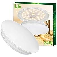LE Plafoniere a LED 24W Pari Fluorescenti da 50W, 2000lm 3000K Bianca calda 410*410*96mm