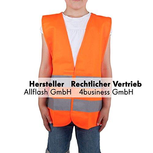 Preisvergleich Produktbild Warnweste orange Größe S für Kinder von 7-12 Jahren