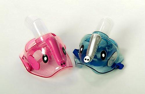 Admed Universal Maske für Kinder zu Inhaliergerät Inhalator Inhalation Aerosol Vernebler (Blau)