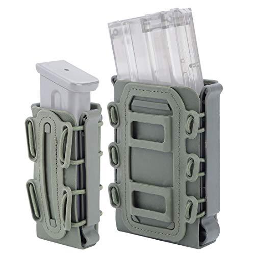 YxFlower Mag Pouch Molle, 2 Stück Taktische Pistole Magazinetasche Mag Carrier für Ar15/M4/5.56 /7.62 Mag -