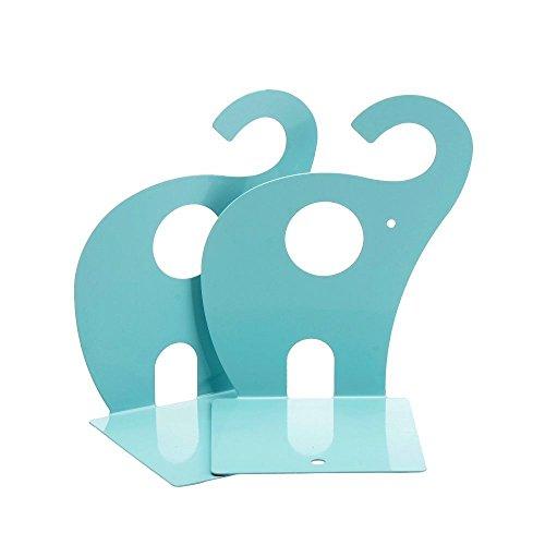Jzhen Sujetalibros de Metal Diseño de Elefante, 1 Par