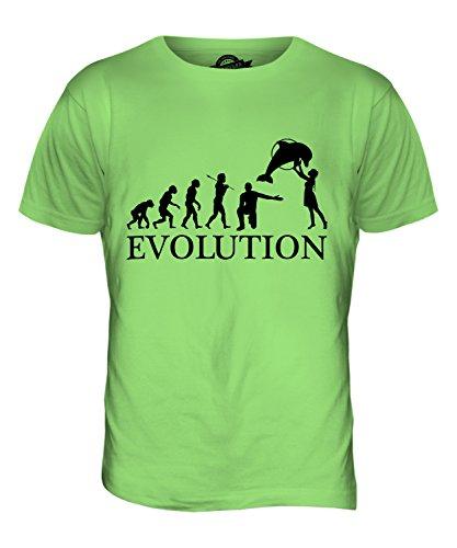 CandyMix Aquarium Evolution Des Menschen Herren T Shirt Limettengrün