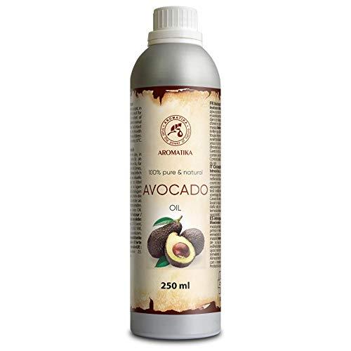 Avocadoöl 250ml - Kaltgepresst & Raffiniert Persea Gratissima Oil - Südafrika - 100% Reines - Avocado Öl - Pflege für Gesicht - Körper - Haare - Massage - Körperpflege Öl Avocado