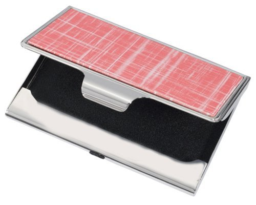 Visol Products Sania Business Card Holder, Pink Slate Finish by Visol Products -