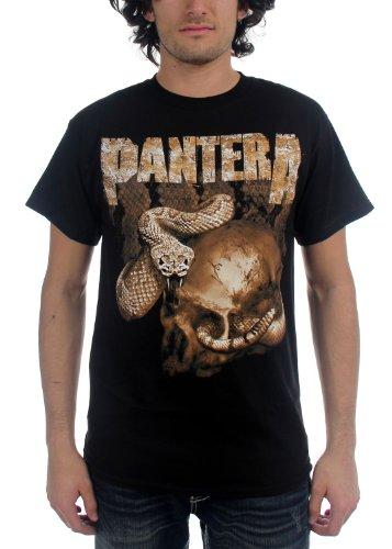 Pantera - Rattler Schädel Herren Kurzarm T-Shirt in schwarz Black