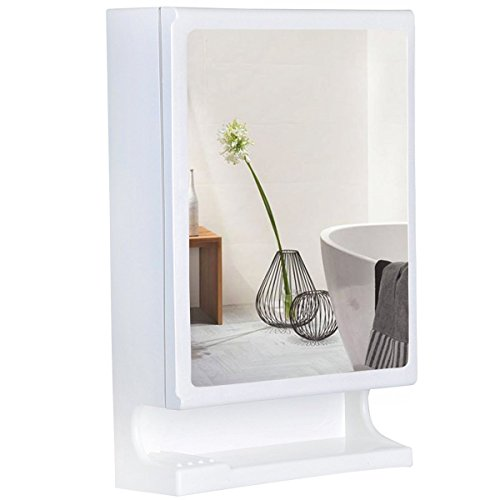 Parasnath Prime Plastic Bathroom Cabinet with Mirror (White)