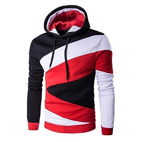 Sannysis Herren Langarm Kapuzenpullover Kapuzenshirt mit Kapuze Sweatshirt Jacken Mantel (XXL,