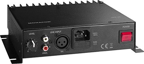 Monacor AKB-60 1.0 Wired Black audio amplifier - audio amplifiers (1.0 channels, 0.1%, 80 dB, 20000 Ω, 15 - 50000 Hz, 212 mm)