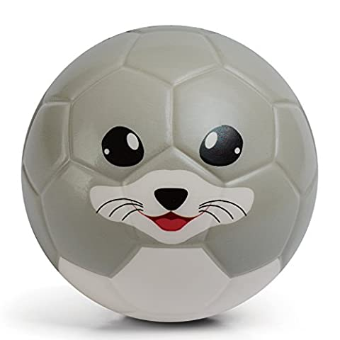 Chastep Toddler Soft Training Animal Soccer 6 Inch (15cm)Mini Foam Toy Ball for Kids (Ingenuous Turtle, Cutee Seal,Chowhound Squirrel, Hyacinthine Whale, Serious Rhinoceros) (Cutee Seal)