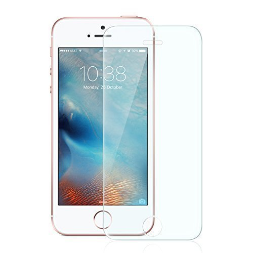 Anker Glas Schutzfolie für Apple iPhone SE / iPhone 5S / iPhone 5C / iPhone 5 Premium Klar Anti-Kratz-Screen Protector Displayschutz - 9H Hardness aus gehärtetem Glas Iphone 4s Screen Protector Galaxy