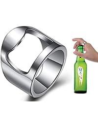 452ea2318e17 VQYSKO Anillo Acero Inoxidable Hombre Anillo Abridor de Botella de Cerveza  Anillo de Acero Joyería Regalo