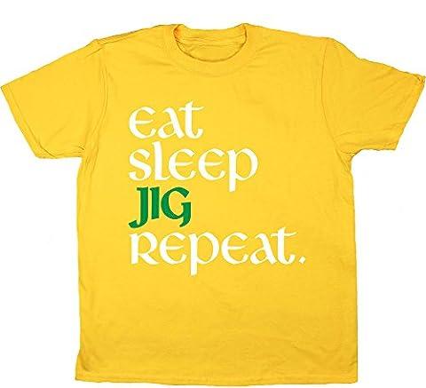 HippoWarehouse - T-shirt - Fille - jaune - 8 ans