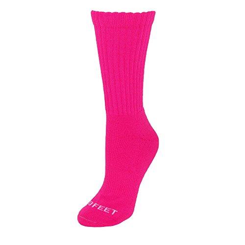 Pro Feet Multisport Crew Socken Einheitsgröße hot pink (Crew Cushion Socke Sport Full)