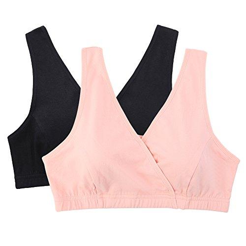 Topwhere® Sommeil/Maternité Soutien-Gorge De Tous Les Jours - Femme (XL/100B,100C,100D, Orange Pink+Black)