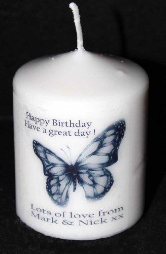 Cellini Kerze Benutzerdefinierte Schmetterling Karte Geschenk Mini-Kerzen für Hochzeitstag, Geburtstag oder andere besondere Anlässe. (Benutzerdefinierte Geschenk-karte)