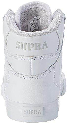 Supra - Vaider, Pantofole Unisex – Bambini Weiß (White - White)
