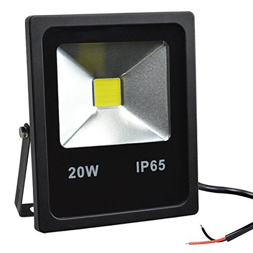 ED Flutlicht,20W Tageslicht Weißes Sicherheitslicht,im Freien IP65 Imprägniern Arbeits Licht,1800lm,6000K,Halogen Birnen Äquivalent 100W,KEIN Stecker ()