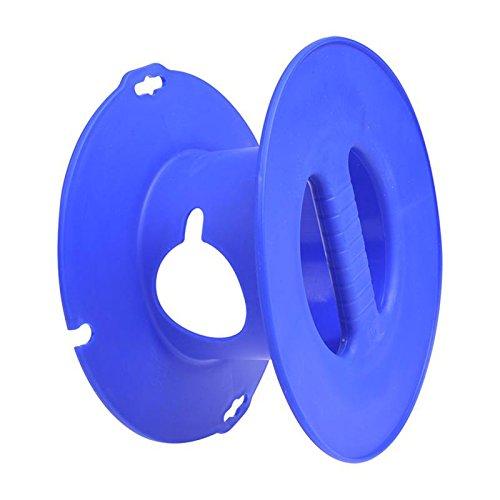 Camping Hand Kabeltrommel Blau für CEE Verlängerungskabel max 30 Meter (1,5 mm²)