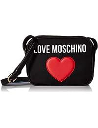 Love Moschino Heart Cross Body Mujer Handbag Negro