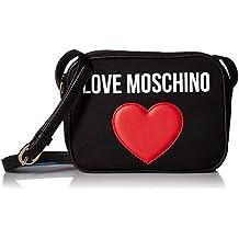 Love Moschino Moschino Borsa Da Donna Tela Cuore Fotocamera Nero 89427c7e59a
