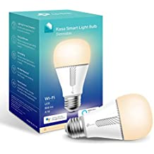 Kasa Smart Bulb by TP-Link, WiFi Smart Switch, E27, 10W, Works with Amazon Alexa (Echo and Echo Dot) and Google Home, Dimmable Soft Warm White, No Hub Required (KL110) [Energy Class A+]