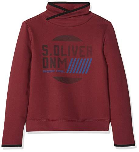 s.Oliver Junior Jungen Sweatshirt 62.811.41.4020, Rot (Bordeaux 4578), 152 (Herstellergröße: M/REG)