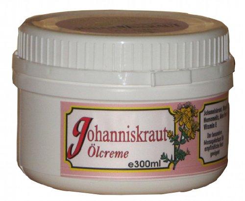 Johanniskraut Creme mit Aloe Vera und Hamamelis von HF - 300 ml