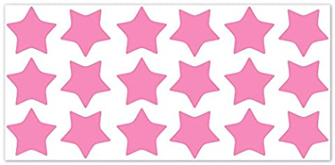 wallfactory - bike decal - 18 beautiful Stars in soft