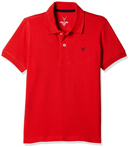 Allen Solly Junior Boys' Plain Regular Fit T-Shirt (AKBTS51712527 16_Red)