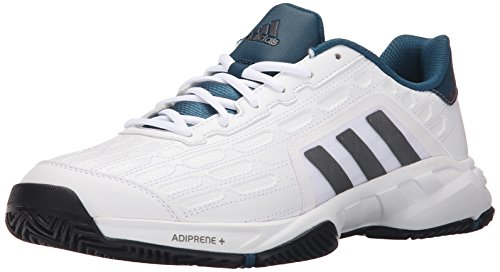 Adidas Performance Barricade Court 2 Large chaussure de tennis, blanc / fer métallique gris / noir, White/Iron Metallic Grey/Black
