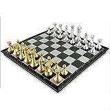 CCDZ Schachspiel Magnetisch Einklappbar Schachbrett Pädagogisches Spielzeug Für Kinder Ab 6 Schach Spiele Für Erwachsene 36X36cm