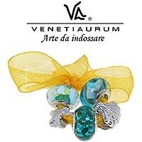 Venetiaurum - Beads in vetro di Murano e argento 925 Made in Italy