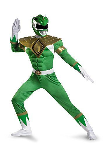 Muscle Adult Fancy dress costume X-Large (Green Ranger Kostüm Erwachsene)