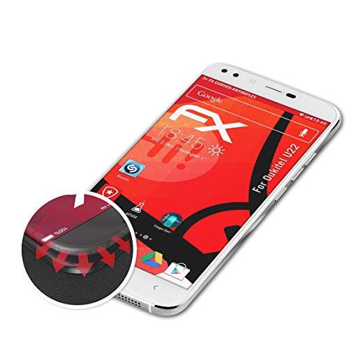atFolix Schutzfolie passend für Oukitel U22 Folie, entspiegelnde & Flexible FX Bildschirmschutzfolie (3X)