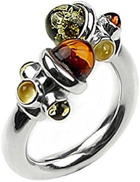 Noda Damen-Ring Sterling-Silber 925 Bernstein