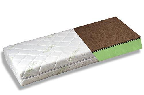 BestCare® - Naturmatratze Babymatratze Kinderbettmatratze aus Pflanzenfasern, kein chemischer Geruch, kein Latex, 2-seitig (Baby/Kleinkind) - Aloe Vera Bezug, Größe:Premium 140x70cm
