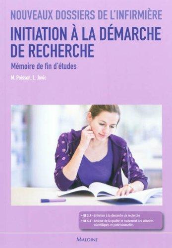 Initiation à la demarche de recherche : Mémoire de fin d'études