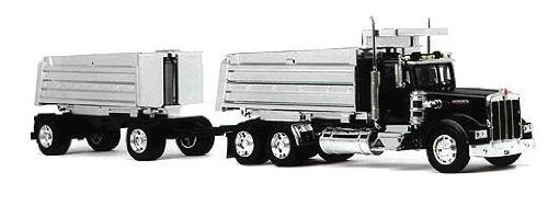 Die-Cast Truck Replica - Kenworth Double Dump Truck, 1:32 Scale, Model# 11943 by New Ray Toys