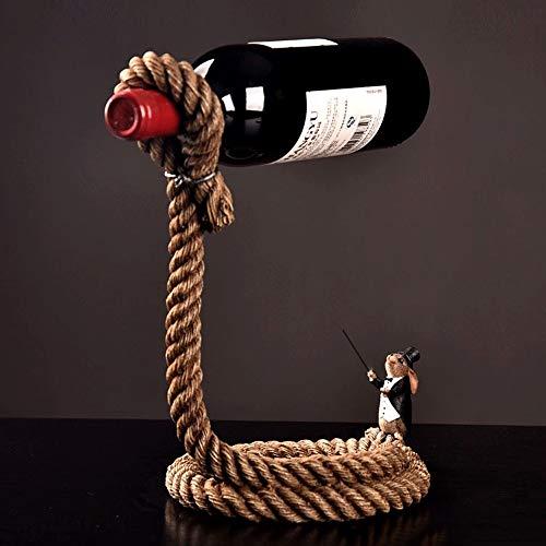 Tritow Creative Magic Wine Racks Hecho a Mano Soporte para el Proceso de enchapado Cocina para el hogar Accesorios para Bar Práctico Soporte para Vino