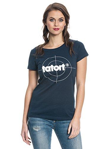 Tatort Classic Logo Girl-Shirt navy L (Classic Logo Navy T-shirt)