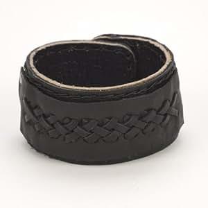 Poignet en Cuir Tribal Celtique Noir Bracelet Manchette