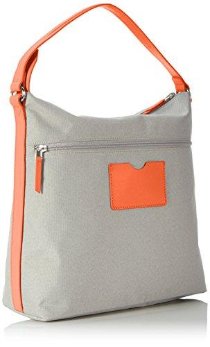 BREE Damen Limoges 5 S17 Schultertasche, Einheitsgröße Mehrfarbig (light Grey/orange)
