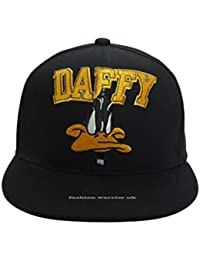 Snapback Daffy Cartoon Looney Tunes 100% authentische Baseball Cap Flat Peak verstellbarem