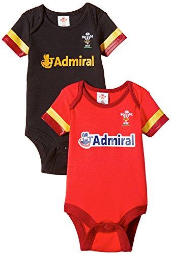 Brecrest Fashion Welsh Rugby Union, Combinaison Bébé garçon, Rouge, 12-18 Mois