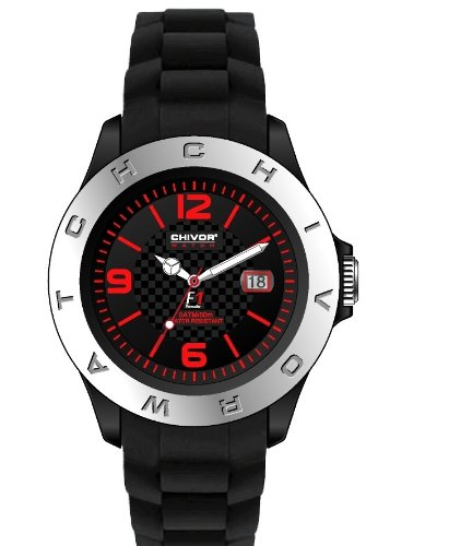 Just Watches Orologio analogico da uomo, al quarzo in acciaio inox 48-s5543bk YL