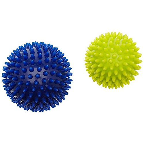 HUDORA Fitness Massage-Ball 2 Stück, Lemon/Blau, 76769