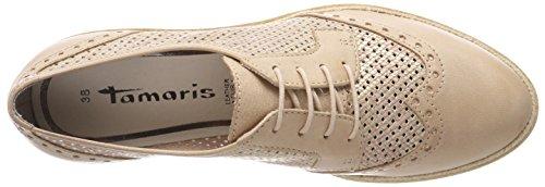 Tamaris 23718, Chaussures À Lacets Basse Brogue Femme Beige (nu Struct.)