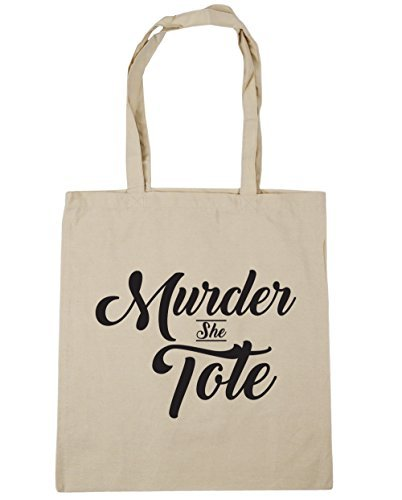 hippowarehouse-murder-she-tote-tote-shopping-gym-beach-bag-42cm-x38cm-10-litres