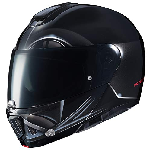 Erwachsene Modular Darth Vader Graphic Motorrad Helm (Schwarz, Medium) ()