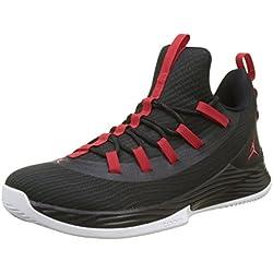 Nike Jordan Ultra Fly 2 Low Zapatos de Baloncesto Hombre, Negro (Black/University Red/White 001), 42.5 EU